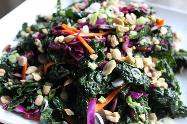 asian kale salad with sesame asian chopped kale salad raw kale salad ...
